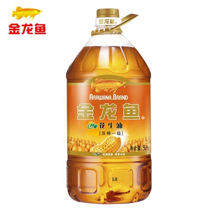 金龙鱼压榨一级花生油5L